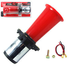 RED 12 VOLT AHOOGA ANTIQUE VINTAGE STYLE OLD FASHION CAR HORN HOT ROD KLAXON
