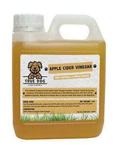 Apple Cider Vinegar for Dogs 1ltr - 5ltr - Unpasturised - Natural Dog Supplement