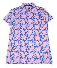 NWT Ralph Lauren Golf Polo Shirt Women Top Paisley Tailored Fit Size M