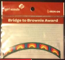 CURRENT Girl Scout Badge BRIDGE to BROWNIES AWARD - NEW IN PACKAGE