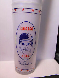 late 60's ? Chicago Cubs frosted Glenn Beckert -  glassware RARE!!!