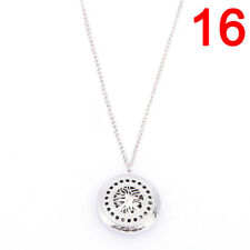 Silver Locket Necklace Aromatherapy Fragrance Essential Diffuser Pendant 3c 4