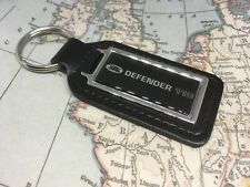 BLACK LEATHER KEY FOB WITH PRINTED DEFENDER 110 LOGO LAND ROVER DISCOVERY