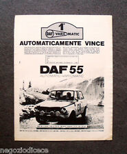 O754 - Advertising Pubblicità -1969- DAF 55 VARIOMATIC
