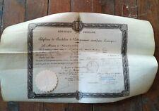 diplome bachelier 1902 philosophie mathématique signatures époque