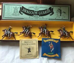 W. Britains Toy Soldiers #8828 6th Caribiniers Dragoon Guards 4pc NIB