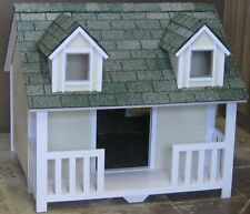 Dog House Small to Medium With Porch Dormers Paneling Pressure-Treated Windows