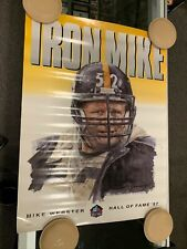 MIKE WEBSTER PITTSBURGH STEELERS 18X24 HALL OF FAME POSTER RARE