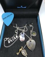 LUCKY BRAND Bob Dylan Rock Music Guitar Pick Back Spacer Bird Charm Necklace