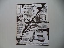 advertising Pubblicità 1982 FAR e VESPA PX 125 E