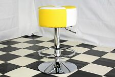 American Diner Retro Style Stool Chair Furniture Kitchen Yellow