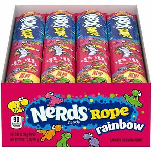 Nerds Rope Rainbow Candy, 0.92 Ounce Package, 24 Count, Pack Of 1, BB 03/2022