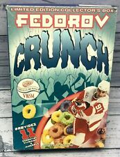 New FULL Cereal Box 1999 FEDOROV CRUNCH 15 oz. Limited Edition Collector's Box.