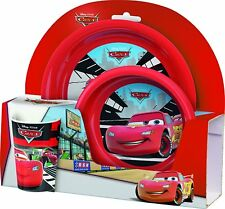 Disney Cars Breakfast Meal Set with Bowl, Plate and Cup
