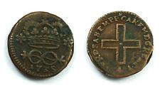 SAVOIA - TORINO - CARLO EMANUELE III 1730-1773 -AE/ 2 DENARI 1735