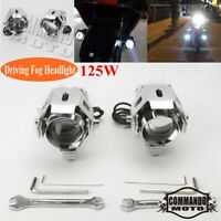 125W Motorcycle CREE U5 LED Driving Headlight Fog Lamp Spot For Suzuki BMW Honda