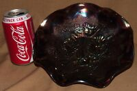 BROWN CARNIVAL GLASS PLATE DISH