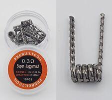 10x Super Juggernaut Fertigwicklung Coils 0,3Ohm Selbstwickler Draht Verdampfer