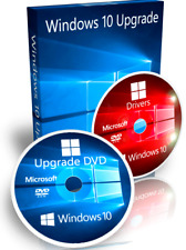 Windows 7 Home Premium Upgrade To Windows 10 Home + Driver DVD + Recovery 64 Bit