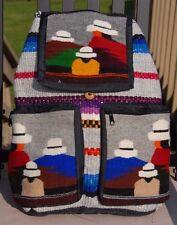 Handmade Mamaconda (Woman) Wool Backpack Ecuador Inca Bag
