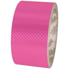 Tape Planet Fluorescent Pink Carbon Fiber 2 inch x 10  yards Metalized PVC Tape