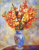"""high quality 24x36  oil painting handpainted on canvas """"flowers in a vase  """""""