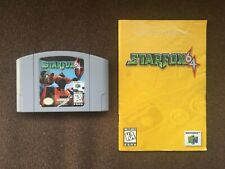 Star Fox 64 Game Nintendo 64 N64 1997 w/ Manual Booklet Authentic