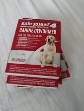 Lot of 5 Safe-Guard Canine Dewormer for Large Dogs, 3 Day Treatment, Exp 04/20