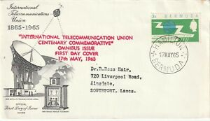 1965 Bermuda FDC cover International Telecommunication Union Centenary Commemora