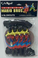 Super Mario Bros Vintage Blowouts 1993 RARE HTF NIP BRAND NEW PARTY ACCESSORIES