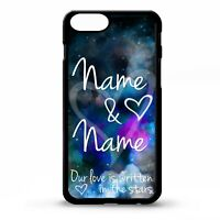 Love heart stars couple relationship phrase personalised name  phone case cover