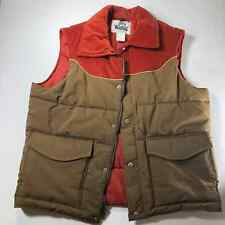 Men's Woolrich Vtg. RARE puffer vest brown and rust corduroy upper Size L