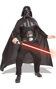 Adult DARTH VADER + LIGHTSABER Kit Star Wars Fancy Dress Costume Halloween Book