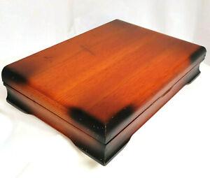 Vintage Tarnish Resistant Wood Silverware Flatware Wooden Storage Chest Box 7