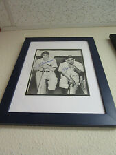 Yogi Berra & Joe DiMaggio Dual Signed & Framed 8x10 STEINER LOA