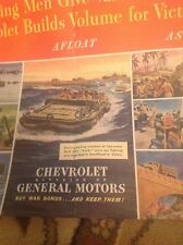 Ephemera 1944 Original 2 Page Advert Chevrolet General Motors Army Ww2