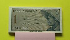 1964 Indonesia 1 sen banknote au/unc P90