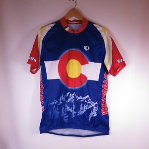 Pearl Izumi Colorado State Flag Cycling Jersey Mens Size L Zip