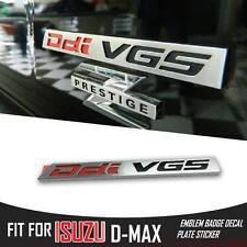 Ddi VGS EMBLEM LOGO BADGE DECAL PLATE FIT ISUZU DMAX D-MAX HOLDEN RODEO TRUCK