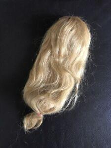 ancien vieux jouet perruque vrai cheveux poupée collection 40cm tete 12cm