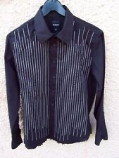 CHEMISE NOIRE BRODEE DESIGUAL TAILLE M