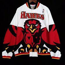 100% Authentic Mitchell & Ness Atlanta Hawks Warm Up Shirt Jacket Size 52 2XL