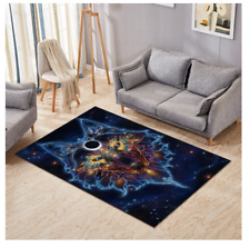 Neon Wolf Karma meditation rug bedroom Non Slip Rug Carpet 80 x 140CM mat