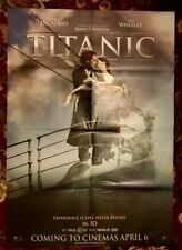 "TITANIC- .ORIGINAL  1997 SUNDAY TIMES  ADV.CINEMA  POSTER. 33 X 23"" DOUBLE SIDED"