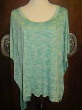 WE THE FREE PEOPLE Teal Green Boxy Slouchy Hi Low Oversized Top Shirt M/L Mint!