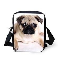 Cute Pug Pet Fashion Messenger Shoulder Bag Women's Handbag Cross-Body Satchel