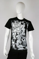 Crusty Demons - SM - Tattoo Pin-Up Girl Skulls - Black T Shirt  New 100% Cotton