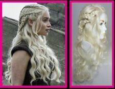 "EMILIA CLARKE LOOK-ALIKE WIG FROM ""GAME OF THRONES"" NEW WIG WIGS BLONDE CASSIE"