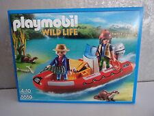 Playmobil Wild Life 5559 bote neumático con furtivos-nuevo & OVP