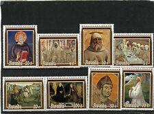 Rwanda 1981 Sc#1051-1058 religieux tableaux Ensemble de 8 TIMBRES MNH